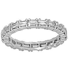 2.00 Carats Baguette Diamond Platinum Eternity Band Ring