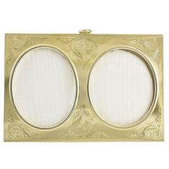 Antique Gold Double Picture Frame