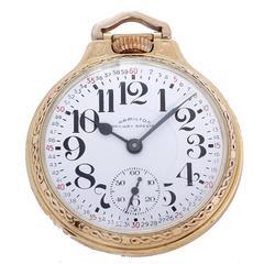 Hamilton Gold-Filled 992-B  Pocket Watch