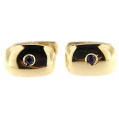 Jona Sapphire  18 Karat Yellow Gold Cufflinks