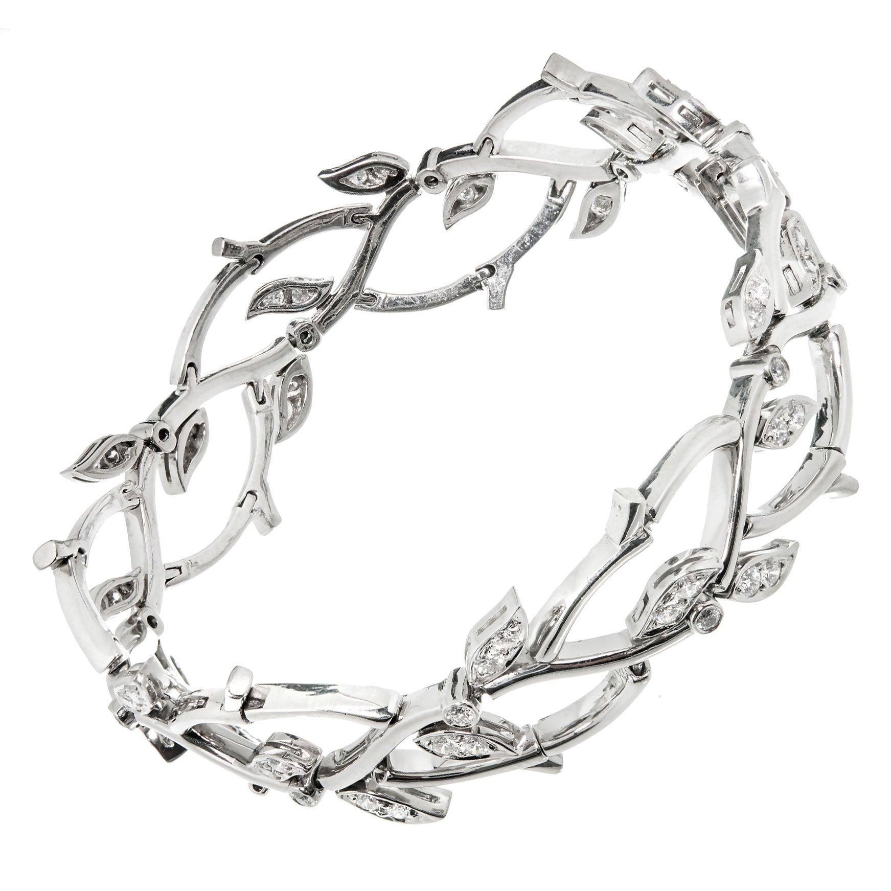 1990s Tiffany & Co. Diamond Platinum Garland Bracelet
