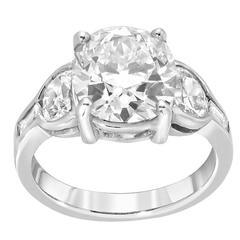 3.51 Carat Diamond Antique Cushion Cut Gold Engagement Ring