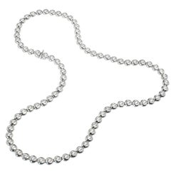 Tiffany & Co. 5.00 Carat Diamond Platinum Bezel Set Tennis Necklace