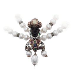 Luise Venetian Moretti Beaded Necklace Pendant