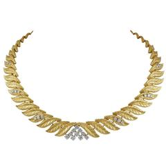 Tiffany Diamond  Gold Necklace
