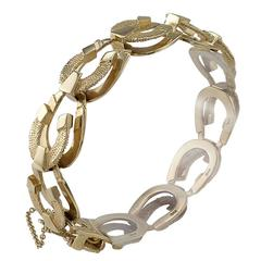 1950s Horseshoe Gold Link Bracelet