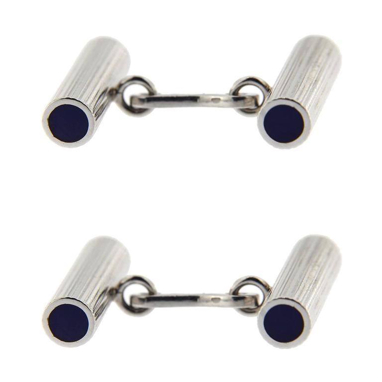 Jona Lapis Sterling Silver Bar Cufflinks For Sale