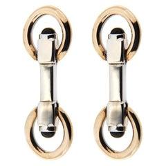 Jona Sterling Silver Double Ring Folding Cufflinks