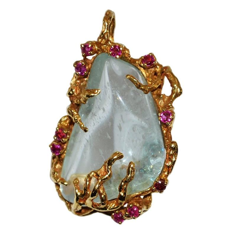 Arthur king ruby quartz free form 18 karat gold pendant vintage arthur king ruby quartz free form 18 karat gold pendant vintage 1 mozeypictures Image collections