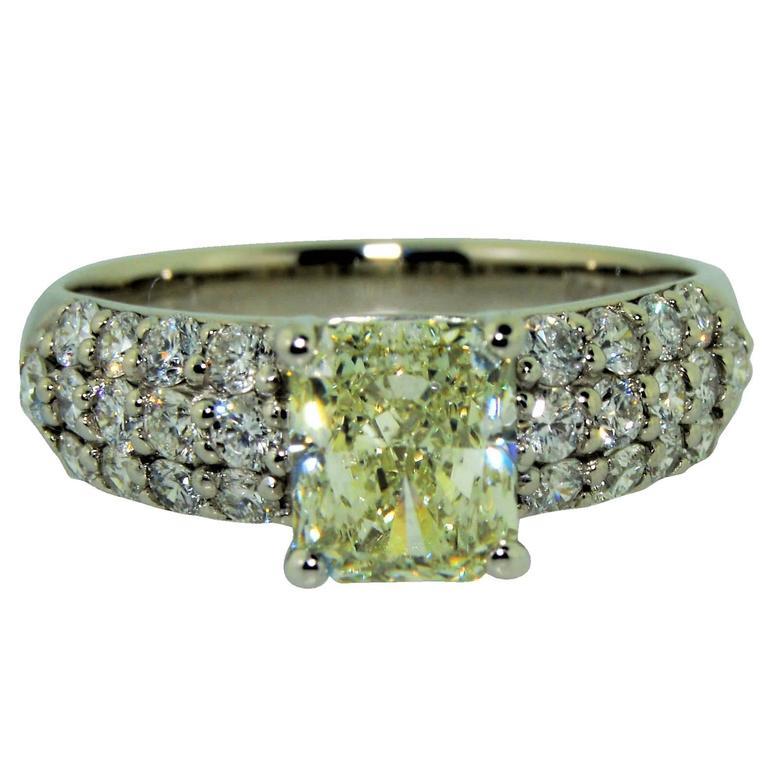 Daou Jewellery White Gold & Diamond Twin Spark Ring - UK O 1/2 - US 7 1/4 - EU 55 3/4 14Rq70