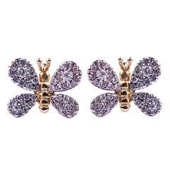 Diamond Butterfly Earrings