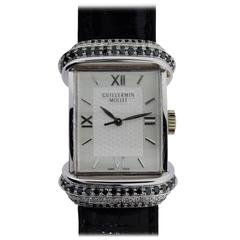 Guillermin Mollet White Gold Number One to One Automatic Wristwatch