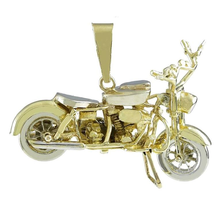 Gold Motorcycle Pendant/Object