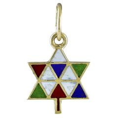 Chanukah/Christmas Tree Gold Enamel Charm