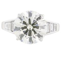 GIA Certified 5.60 Carat Diamond Platinum Ring