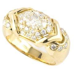 Bulgari Gold Diamond Set Cocktail Ring