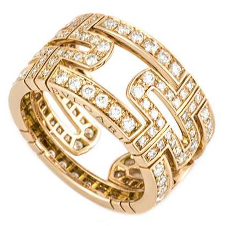 Bulgari Parentesi Ring Diamond and Rose Gold