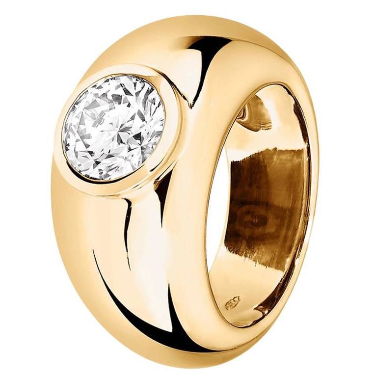 Renesim Broad 1 Carat Brilliant Diamond Gold Ring