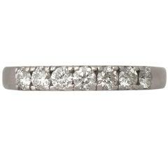 0.42 Carat Diamond and White Gold Half Eternity Ring - 1970s