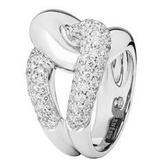 Renesim Pave Diamond Knot Gold Ring