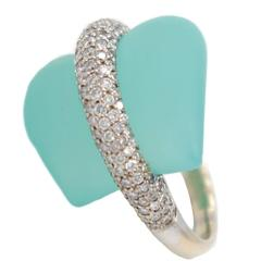 Ionescu Design Aquamarine Diamond Gold Ring