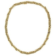 Large Yellow Gold Link Necklace