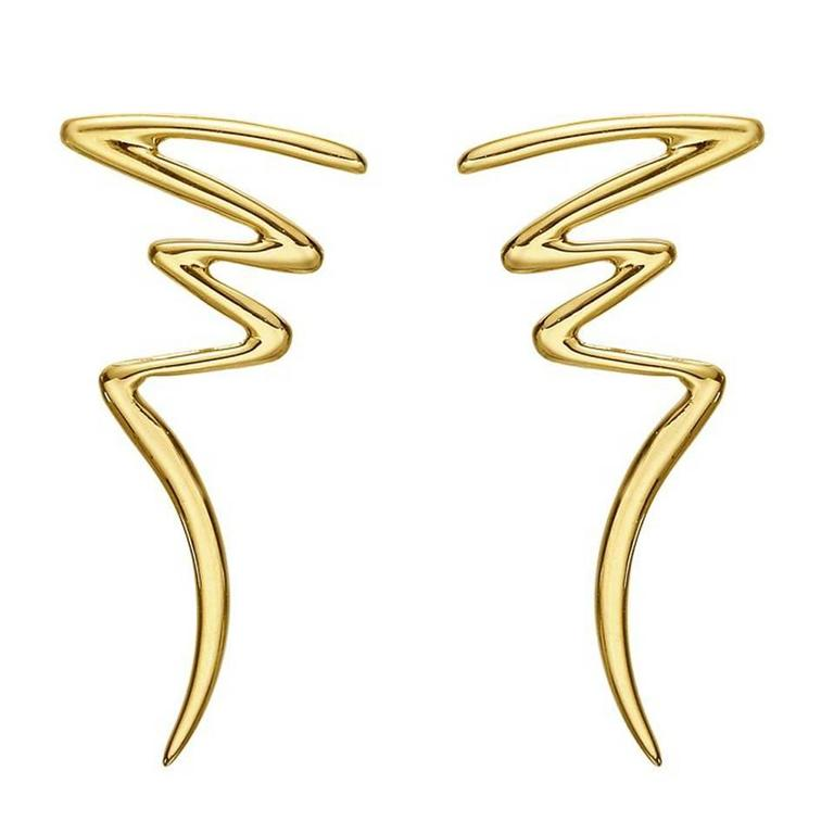 Paloma Pico Gold Zigzag Drop Earrings