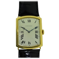 Longines 18Kt. Yellow Gold Men's Wrist Watch, French Hallmarked