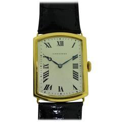 Longines 18Kt. Yellow Gold Men's Wrist Watch, French Hallmarked
