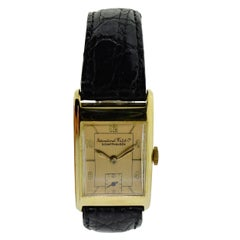 I. W. C. Schaffhausen Yellow Gold Art Deco Style Mechanical Watch