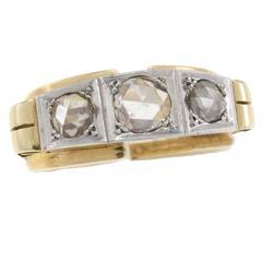 Three-Diamond Gold Ring