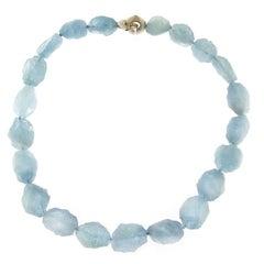 Jona Hammered Aquamarine Necklace