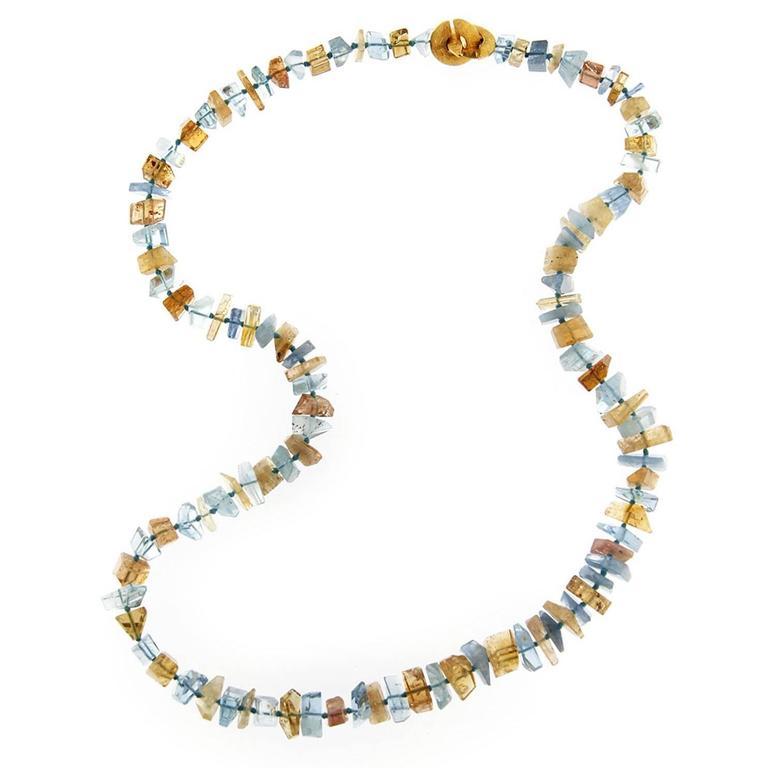 Jona Aquamarine and Citrine Necklace