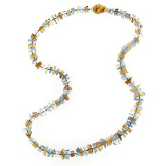 Jona Aquamarine and Citrine Necklace