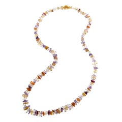 Jona Morganite Amethyst Carnelian Necklace