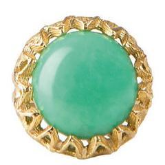 Fouche Chrysoprase Gold Ring