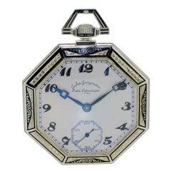 Jules Jurgensen / Platinum / Men's Pocket Watch / Octagon Art Deco Style