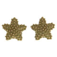 Valentin Magro Starfish Earrings in Gold