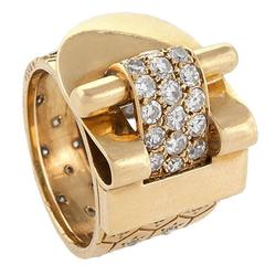Van Cleef & Arpels Ludo Hexagone Diamond Gold Ring