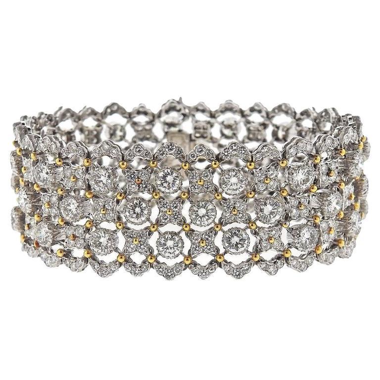 Buccellati Important  19 carats Diamonds Gold Bracelet