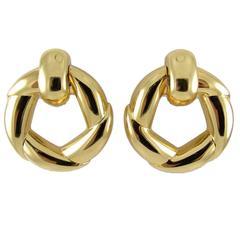 Cartier Gold Door Knocker Earrings