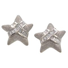 3.42 Carats Diamonds Platinum Earrings