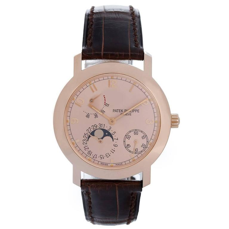 Patek Philippe Rose Gold Annual Calendar Automatic Wristwatch