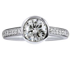 1.01 carat Diamond Platinum Engagement Ring