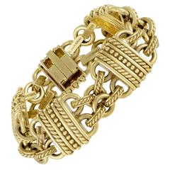 Judith Ripka Carved Gold Bracelet
