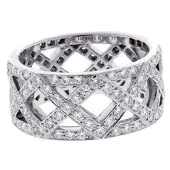 Tiffany & Co. Diamond Platinum Braid Band Ring
