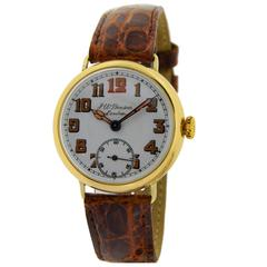 J. W. Benson Yellow Gold Military Campaign Style Watch