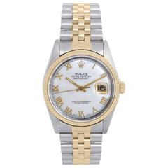 Rolex Yellow Gold Stainless steel Automatic Wristwatch Ref 16233