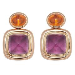 Colleen B. Rosenblat Tourmaline Mandarine Garnet Gold Earrings