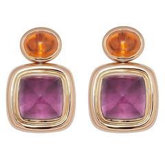 Colleen B. Rosenblat Tourmaline Mandarine Garnet Gold Earrings